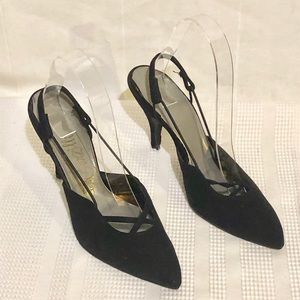 VTG Women's Black Suede Shoes-by Fator Da Garzilli